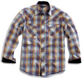 Tin Haul Men's Sunrise Plaid Snap Western Shirt, Blue Multi Plaid, hi-res