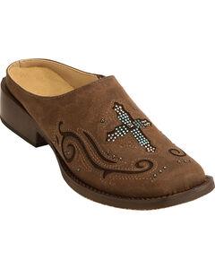 Roper Women's Vintage Brown Cross Mules , , hi-res
