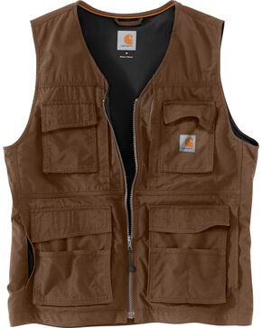 Carhartt Men's Briscoe Vest , Dark Brown, hi-res