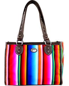 Montana West Women's Stripe Serape Concealed Carry Tote Bag , , hi-res