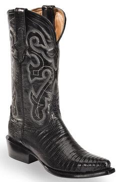 Ferrini Black Lizard Cowgirl Boots - Snip Toe, , hi-res