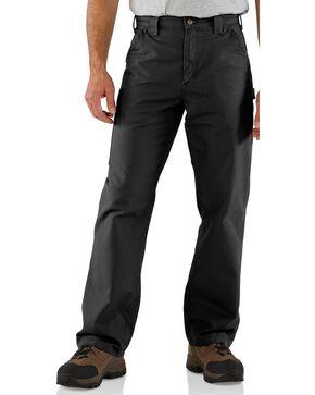 Carhartt Canvas Dungaree Work Pants, Black, hi-res