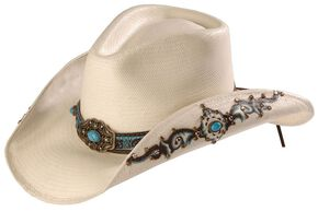Bullhide Sweet Seduction Straw Cowgirl Hat, Natural, hi-res