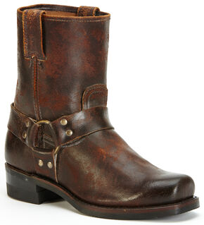 Frye Men's Harness 8R Waxed Suede Boots, Chocolate, hi-res
