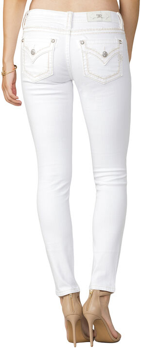 Miss Me Women's White Mid-Rise Jeans - Skinny, White, hi-res