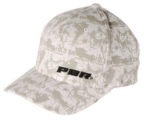 PBR Hold On White Flexfit Cap, White, hi-res