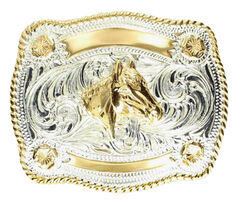Kids' Horse & Banner Belt Buckle, , hi-res