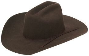 Twister Youth Wool Felt Western Hat, Chocolate, hi-res