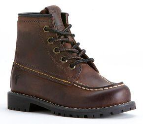 Fyre Boys' Dakota Mid Lace Boots, Brown, hi-res
