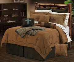 HiEnd Accents Crosses King Size Bedding Set, , hi-res