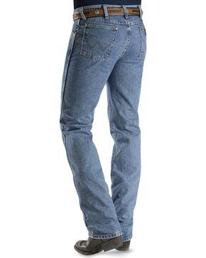 "Wrangler Jeans - Cowboy Cut 36MWZ Slim Fit Jeans Stonewash in 38"" Tall Inseam, Stonewash, hi-res"