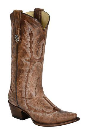 Corral Picasso Cognac Cowgirl Boots - Snip Toe, Cognac, hi-res