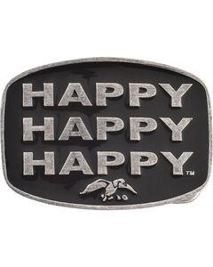 Montana Silversmiths Duck Commander Happy Happy Happy Belt Buckle, , hi-res
