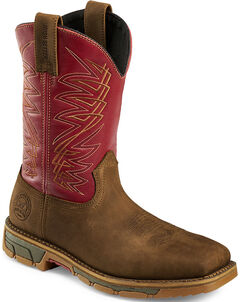 Red Wing Irish Setter Men's Red Marshall Waterproof Work Boots - Steel Toe , , hi-res
