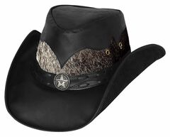 Bullhide Men's Comanche Leather Hat, , hi-res