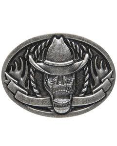 AndWest Men's Cowboy Skeleton Belt Buckle, , hi-res