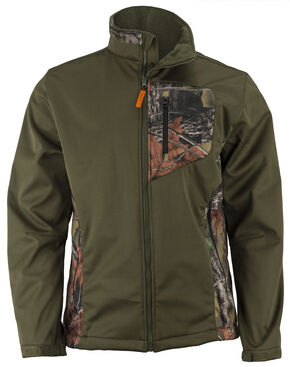 Trail Crest Men's Waterproof & Windproof Custom XRG Softshell Jacket, Olive Green, hi-res