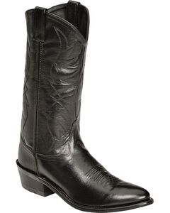 Old West Smooth Leather Cowboy Boots - Medium Toe, , hi-res
