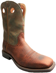 Twisted X Camo Top Hand Cowboy Boots - Square Toe , , hi-res