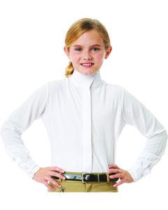 Ovation Girls' Long Sleeve Tech Show Shirt, , hi-res