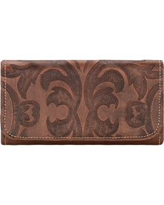 American West Dusty Rose Baroque Tri-Fold Wallet , , hi-res