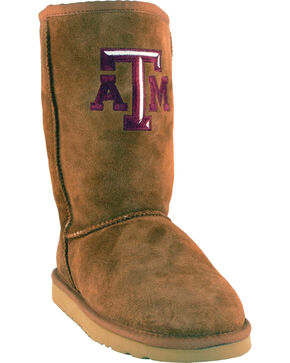 Gameday Boots Women's Texas A&M University Lambskin Boots, Tan, hi-res