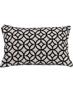 HiEnd Accents Black Augusta Cutted Velvet Pillow, , hi-res
