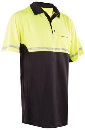 Tru-Spec Men's 24-7 HiViz Yellow Bike Polo Shirt , Yellow, hi-res