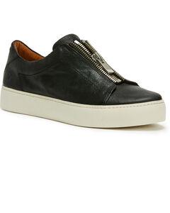 Frye Women's Black Lena Zip Low Shoes - Round Toe, , hi-res