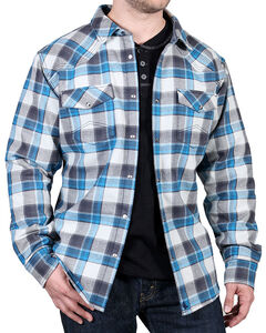 Cody James Men's Sawmill Velour Lined Flannel Shirt, , hi-res