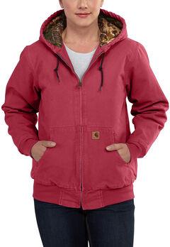 Carhartt Women's Sandstone Active Camo-Lined Jacket, , hi-res