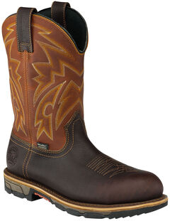 Red Wing Irish Setter Men's Waterproof Harvest Gold Marshall Work Boots - Steel Toe , , hi-res