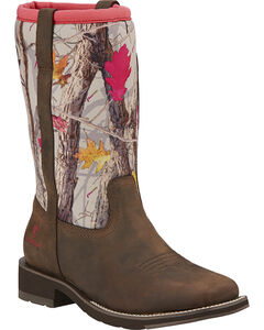 Ariat Fatbaby All Weather Camo Cowgirl Boots, , hi-res