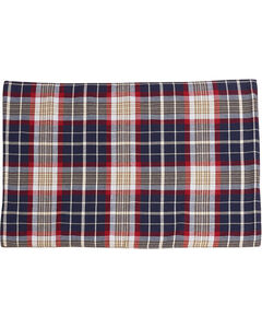 South Haven- Blue plaid placemat with rope detail Set of 4, , hi-res