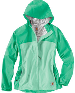 Carhartt Women's Sage Mountrail Waterproof Rain Jacket, , hi-res