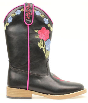 Blazin Roxx Girls' Juniper Bold Flower Embroidered Boots, Black, hi-res