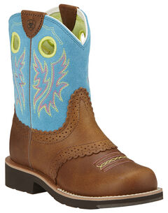Ariat Youth Girls' Fatbaby Cowgirl Boots - Round Toe, , hi-res
