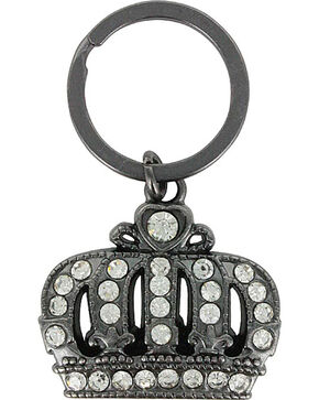 Shyanne Crown Rhinestone Key Chain , Black/brown, hi-res