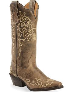 Laredo Jasmine Cowgirl Boots - Snip Toe , , hi-res