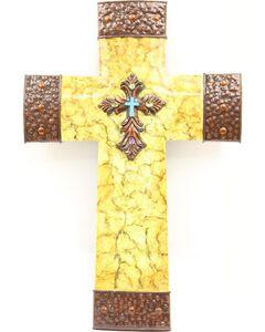 Crackled Cross Wall Art, , hi-res