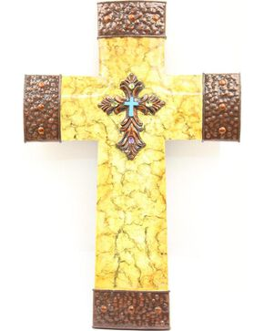 Crackled Cross Wall Art, Multi, hi-res