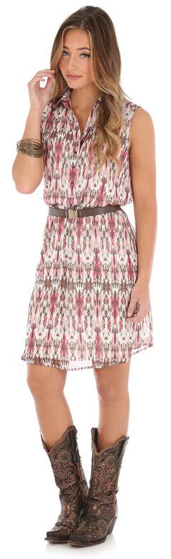 Wrangler Women's Sleeveless Button Placket Plaid Dress, , hi-res