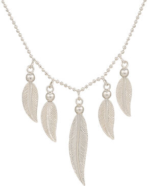 Montana Silversmiths Reverie of Flight Feather Waterfall Necklace, Silver, hi-res