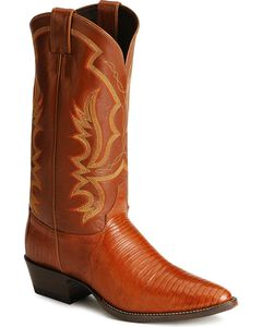 Justin Lizard Cowboy Boots - Medium Toe, , hi-res