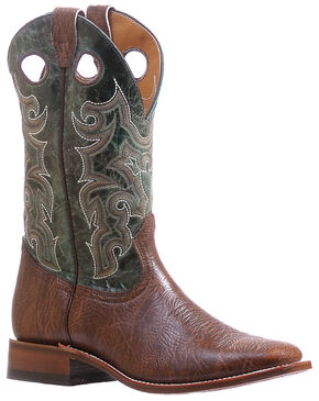 Boulet Turqueza Shoulder Cowboy Boots - Square Toe , Brown, hi-res