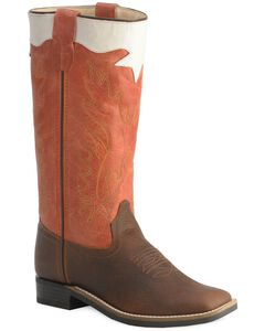 Old West Children's Stove Pipe Cowboy Boots - Square Toe, , hi-res