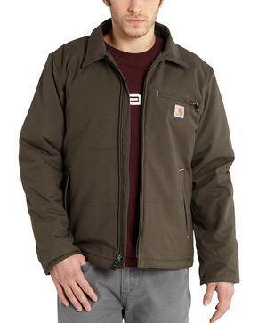 Carhartt Men's Bark Quick Duck Livingston Jacket - Big & Tall , Bark, hi-res