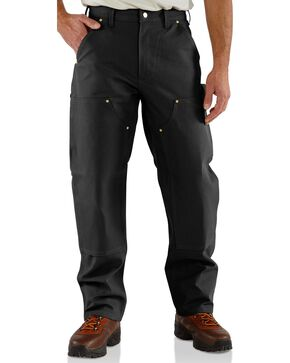 Carhartt Double Front Duck Utility Work Pants - Big & Tall, Black, hi-res