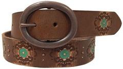 Roper Women's Brown Hand Paint Leather Belt, , hi-res