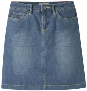 Mountain Khakis Women's Medium Wash Genevieve Denim Skirt, Blue, hi-res